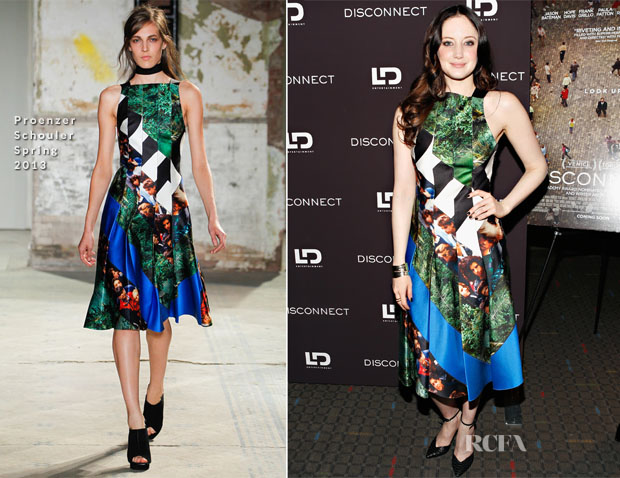Andrea Riseborough In Proenzer Schouler - 'Disconnect' New York Special Screening