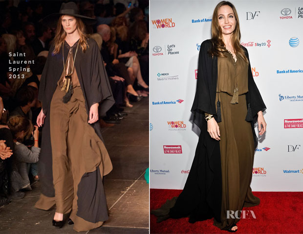 Angelina Jolie In Saint Laurent - Women in the World Summit 2013