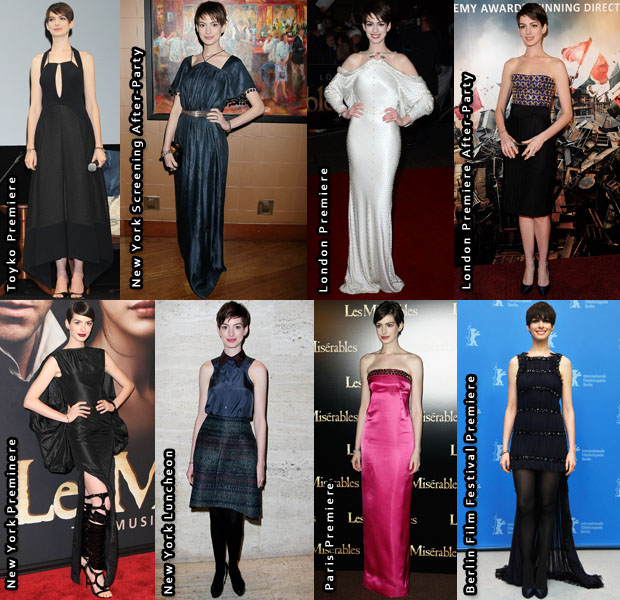 Which Was Your Favourite Anne Hathaway Look From The 'Les Miserables' Promo Tour?