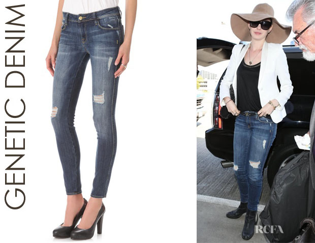 Anne Hathaway's Genetic Denim 'Shya' Cigarette Jeans