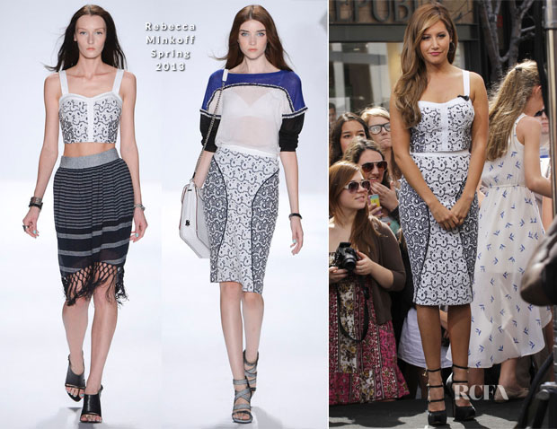 Ashley Tisale In Rebecca Minkoff - Extra