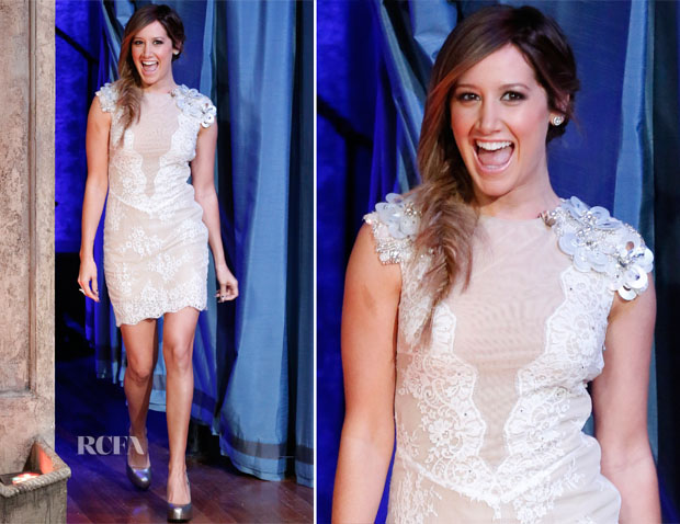 Ashley Tisdale In Philip Armstrong - Late Night with Jimmy Fallon