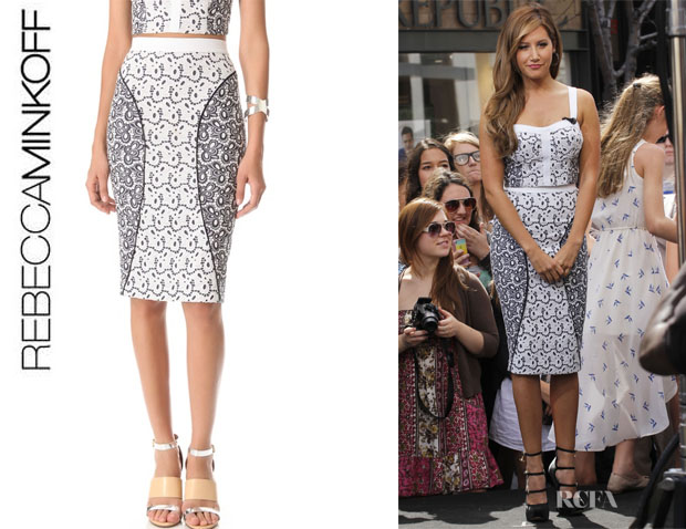Ashley Tisdale's Rebecca Minkoff 'Della' Eyelet Skirt