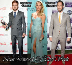 Best Dressed Of The Week - Kate Hudson In Reem Acra, Chris Pine In Louis Vuitton & Zachary Levi In Vivienne Westwood MAN