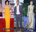 Best Dressed Of The Week - Jaimie Alexander In Marc Bouwer, Tong Liya In Valentino & Chris Pine In Ermenegildo Zegna