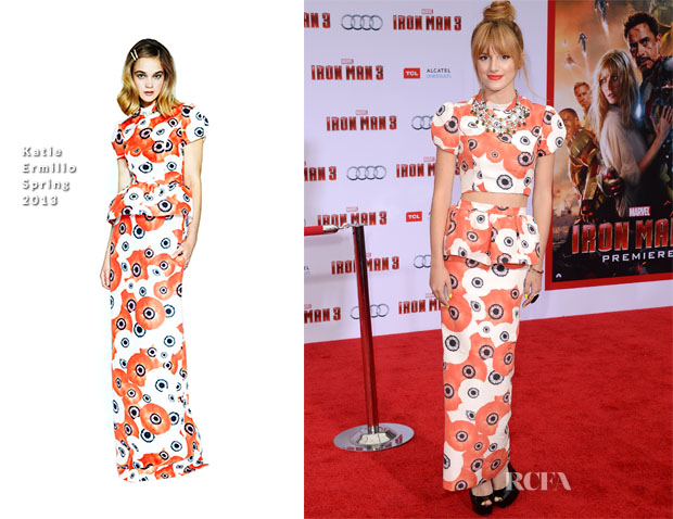 Bella Thorne In Katie Ermilio - 'Iron Man 3' LA Premiere