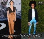 Best Dressed Of The Week - Olga Kurylenko In Burberry, Solange Knowles In Michael Kors, Alexander Skarsgard & Robert Downey Jr In Calvin Klein