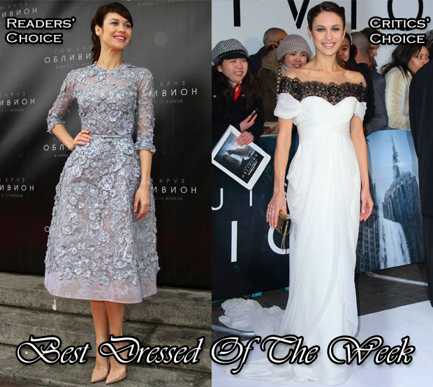 Best Dressed Of The Week - Olga Kurylenko In Elie Saab Couture & Marchesa
