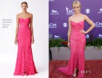 Beth Behrs In Monique Lhuillier - 2013 ACM Awards
