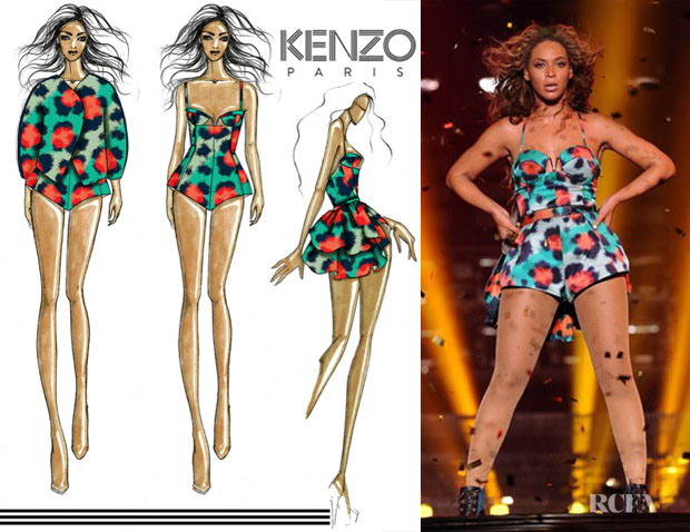Beyonce Knowles In Kenzo