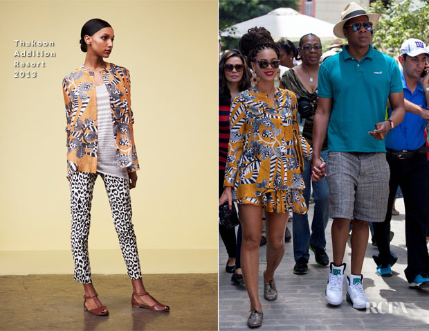 Beyonce Knowles In Thakoon Addition R13 - Havana, Cuba