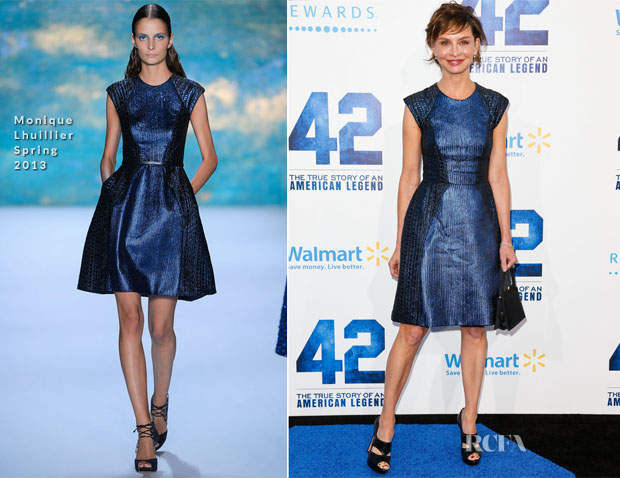 Calista Flockhart In Monique Lhuillier - '42' LA Premiere