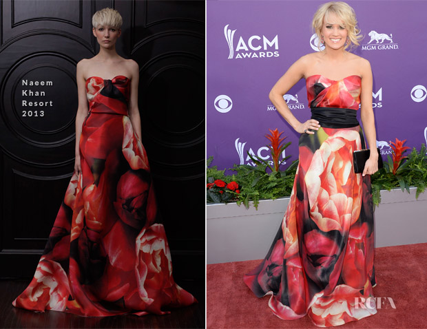 Carrie Underwood In Naeem Khan - 2013 ACM Awards