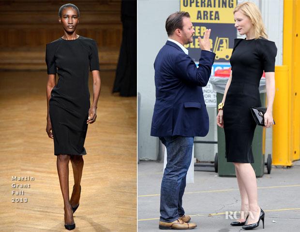 Cate Blanchett In Martin Grant - Qantas Uniform Unveiling