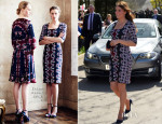 Catherine, Duchess of Cambridge In Erdem - Manchester Visit