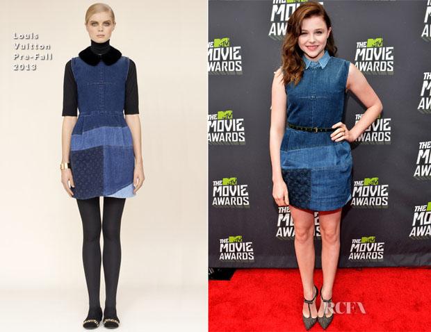c742c02895 Chloe Moretz In Louis Vuitton - 2013 MTV Movie Awards - Red Carpet ...