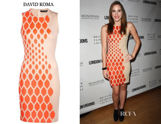 Christa B Allen's David Koma Sleeveless Dress
