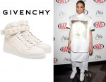 Ciara's Givenchy Leather Hi-Tops With Gold Studs