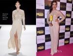 Deepika Padukone In Naeem Khan - Grazia Young Fashion Awards 2013