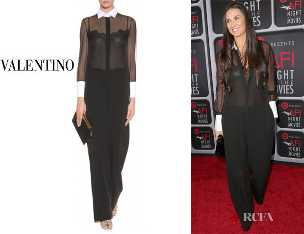 Demi Moore's Valentino Sheer Tailored Jumpsuit