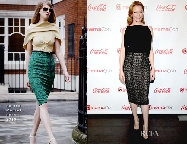 Elizabeth Banks  In Roland Mouret - 2013 CinemaCon Awards