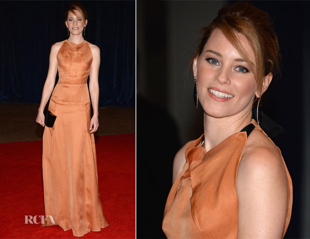 Elizabeth Banks In Roland Mouret - 2013 White House Correspondents' Association Dinner