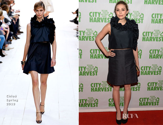 Elizabeth Olsen In Chloé- 19th Annual City Harvest An Evening Of Practical Magic