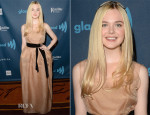 Elle Fanning In Lanvin - 24th Annual GLAAD Media Awards