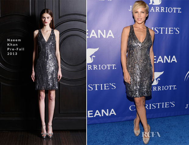 Elsa Pataky In Naeem Khan - The Inaugural Oceana Ball