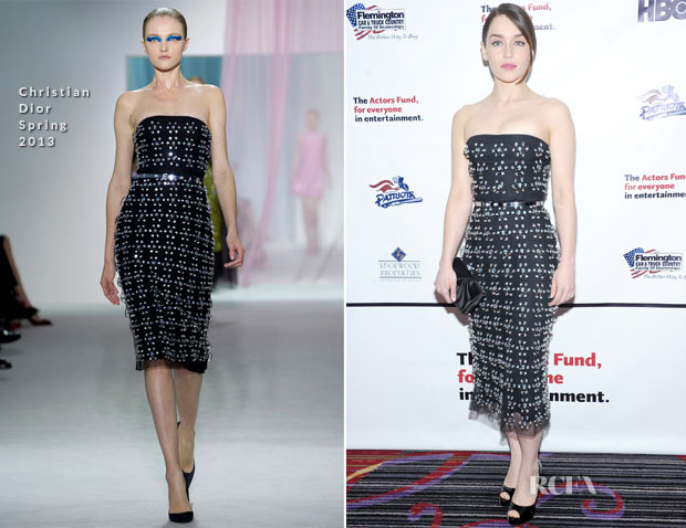 Emilia Clarke In Christian Dior - 2013 Actors Fund's Annual Gala honouring Robert De Niro