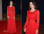 Emily Mortimer In Oscar de la Renta - 2013 White House Correspondents' Association Dinner