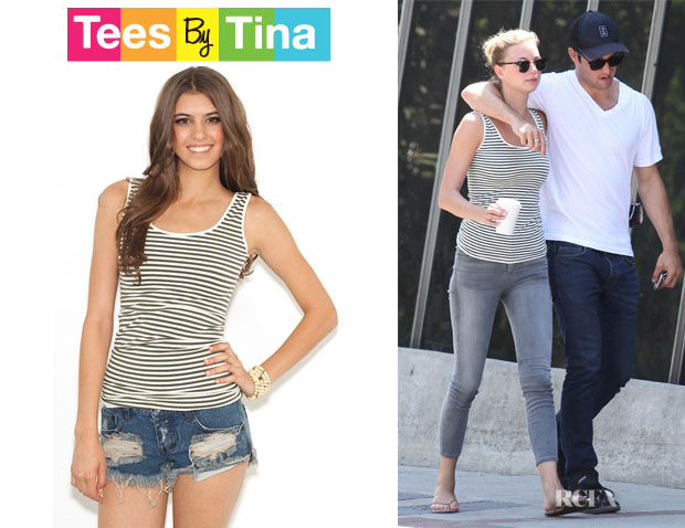 Emily VanCamp's Tees by Tina Microstripe Tank