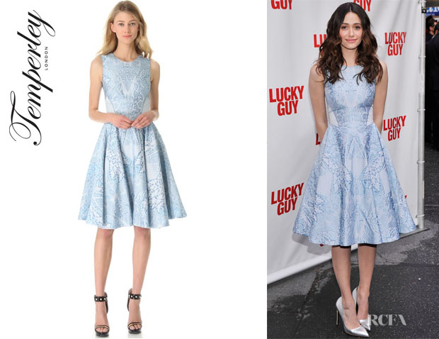 Emmy Rossum's Temperley London Tile Crew Neck Dress1