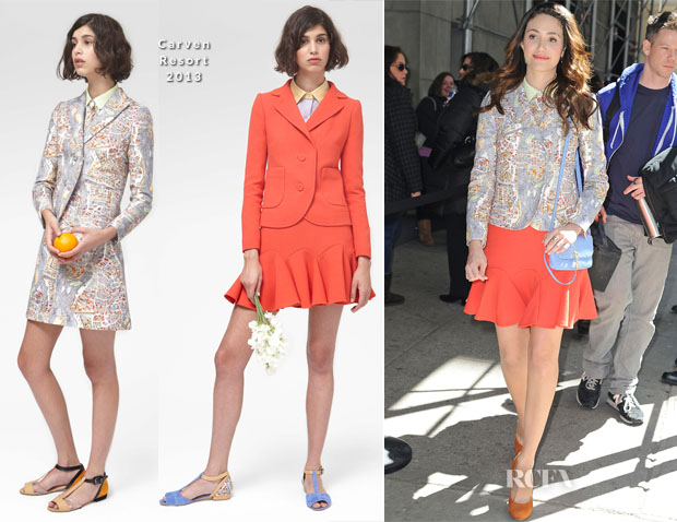 Emmy Rossum In Carven - Out In New York City