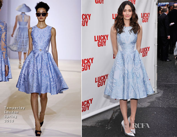 Emmy Rossum In Temperley London - 'Lucky Guy' Broadway Opening Night