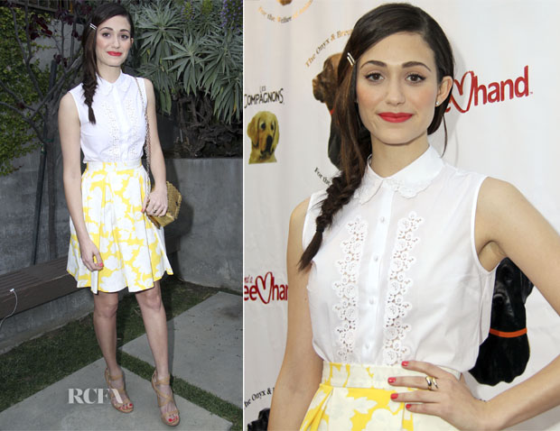 Emmy Rossum In Topshop - The Onyx And Breezy Foundation's 'Saving Tails' Fundraiser