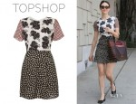 Emmy Rossum's Topshop Mix And Match Shift Dress