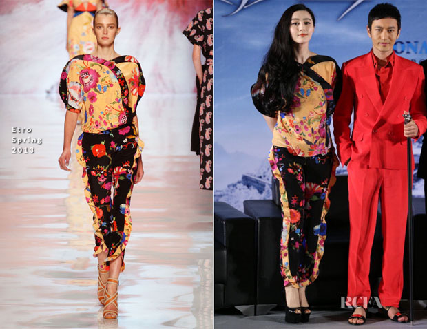Fan Bingbing In Etro - 'White Haired Witch' Press Conference