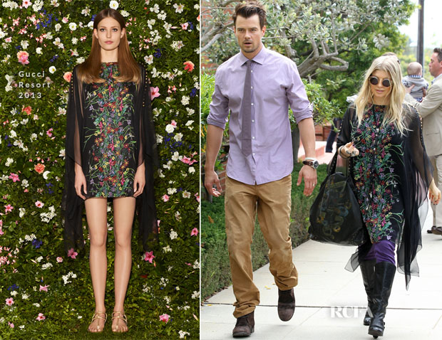 Fergie In Gucci & Josh Duhamel In J Brand - Easter Sunday Service