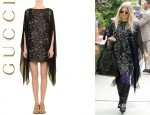 Fergie's Gucci Floral Kaftan Dress