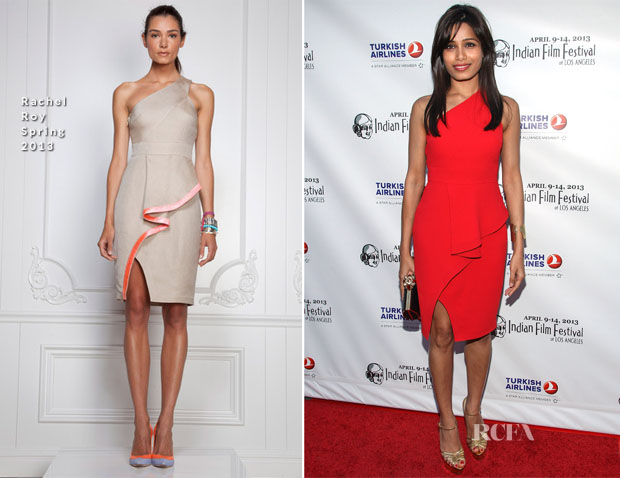 Freida Pinto In Rachel Roy - Indian Film Festival Of Los Angeles (IFFLA) Opening