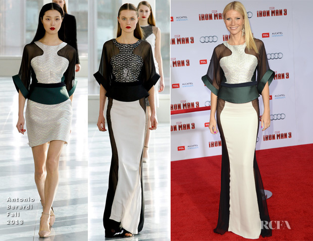 Gwyneth Paltrow In Antonio Berardi - 'Iron Man 3' Premiere