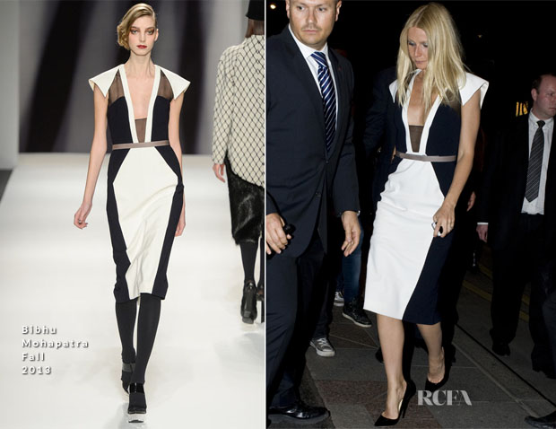 Gwyneth Paltrow In Bibhu Mohapatra - Dinner In Paris