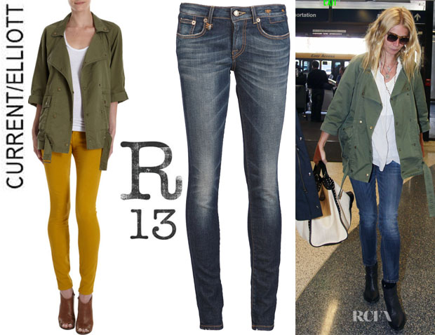 Gwyneth Paltrow's CurrentElliott 'The Infantry' Jacket And R13 Skinny Jeans