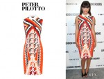 Hannah Simone's Peter Pilotto X Printed Dress