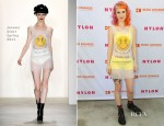 Hayley Williams In Jeremy Scott - NYLON x Boss Orange Escape House Event