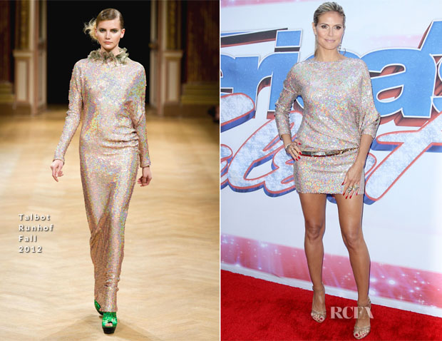 Heidi Klum In Talbot Runhof - 'America's Got Talent'