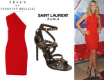 Heidi Klum's Preen by Thornton Bregazzi 'Ted' Dress And Saint Laurent 'Jerry' Studded Sandals
