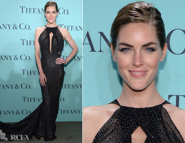 Hilary Rhoda In Donna Karan Atelier - Tiffany & Co Blue Book Ball