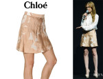 Isla Fisher's Chloé Flower Jacquard Skirt